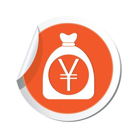 yen sign: Bolsa de dinero con yenes signo ilustraci�n vectorial Vectores