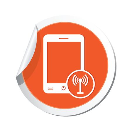 oftware: Phone with wireless icon  Vector illustration Illustration