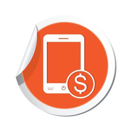 economize: Phone with cost menu icon  Vector illustration