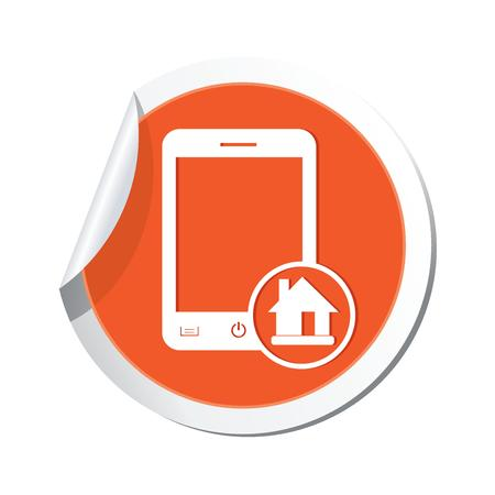 Phone with home menu icon  Vector illustration Stock Vector - 23039719