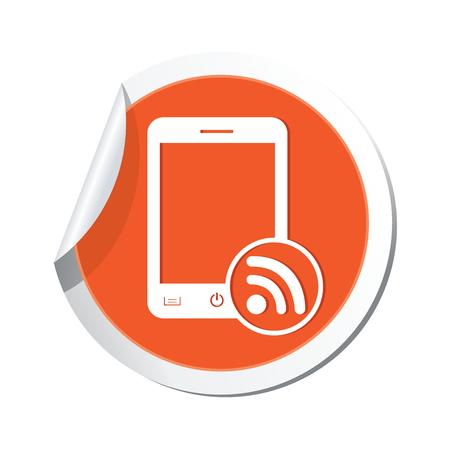 oftware: Phone with rss icon  Vector illustration