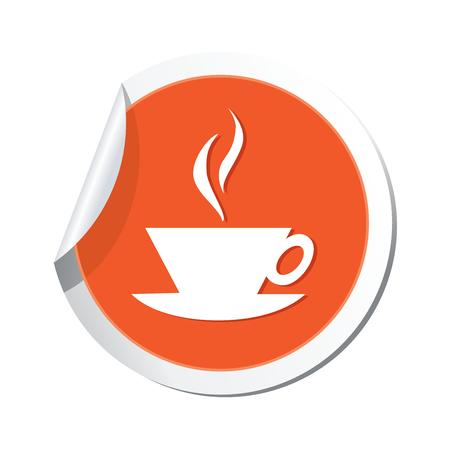 ticker with hot coffee cup icon  Vector illustration Vector