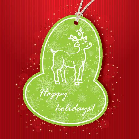 Christmas greeting card  Vector illustration Vector