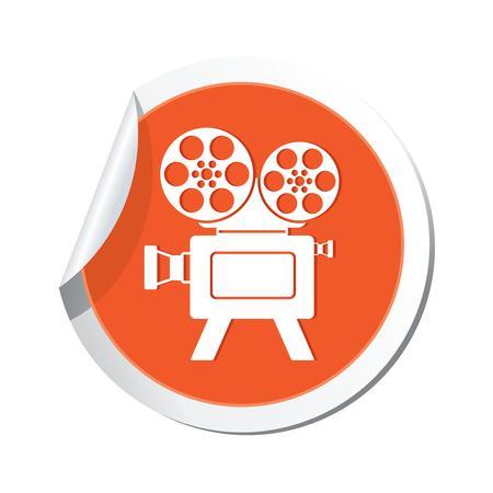 cinematografico: ticker con el icono del cine