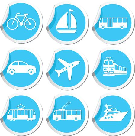 Transportation icons  Vector illustration Vector