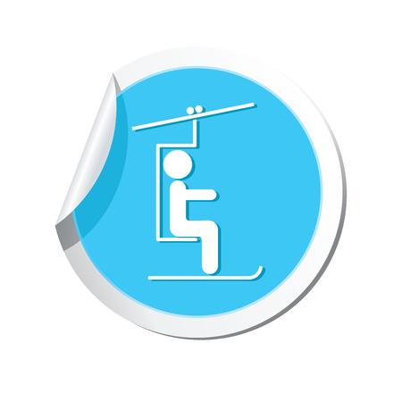 chairlift: Skier on the chair lift icon  Vector illustration Illustration