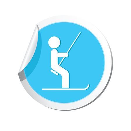 chairlift: Ski lift icon  Vector illustration Illustration