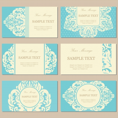 corporate event: Floral vintage business or invitation cards