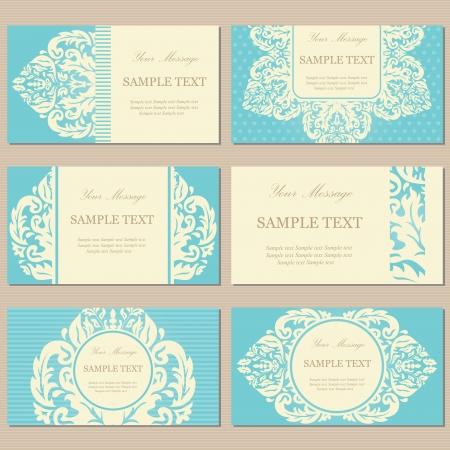 Floral vintage business or invitation cards