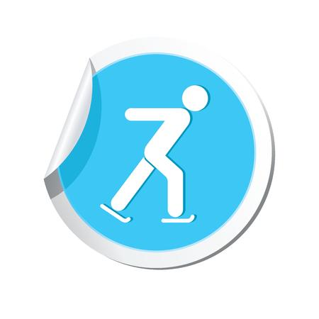 excursions: Ice skater symbol  Vector illustration