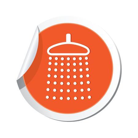 Shower icon  Vector illustration Stock Vector - 23824471