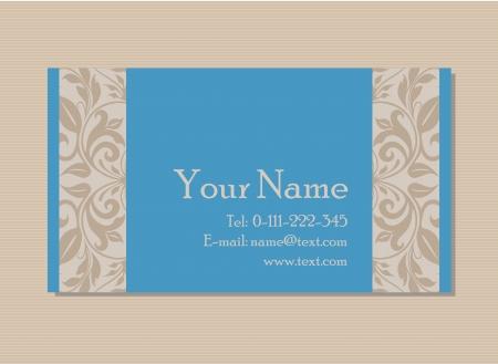 Vintage business or invitation card  Vector