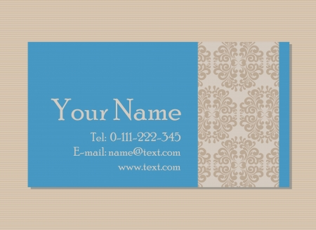 Vintage business or invitation card Vector