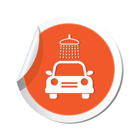 Car wash icon  Vector illustration  Vector