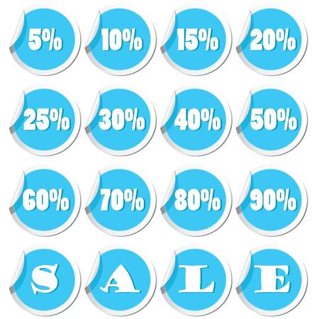 Sale tags  Vector illustration Vector