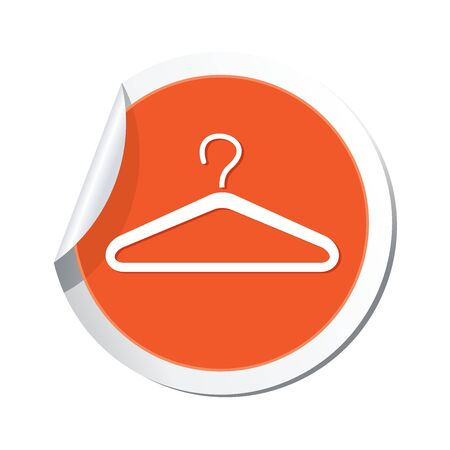 clothes hangers: Hanger icon  Vector illustration