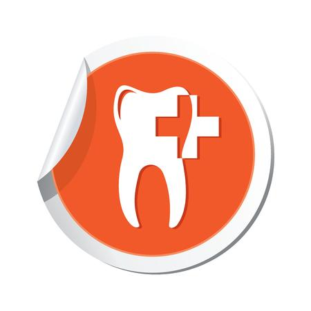 dental caries: Dental clinic icon  Vector illustration