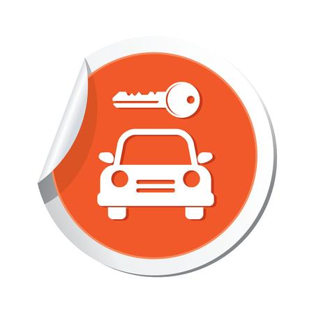 Parking for car icon, vector illustration Vector