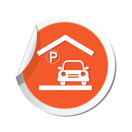 parking garage: Parking garage sign, vector illustration Illustration