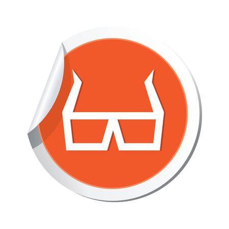 cinematografico: Ilustraci�n gafas de cine 3D icono del vector Vectores