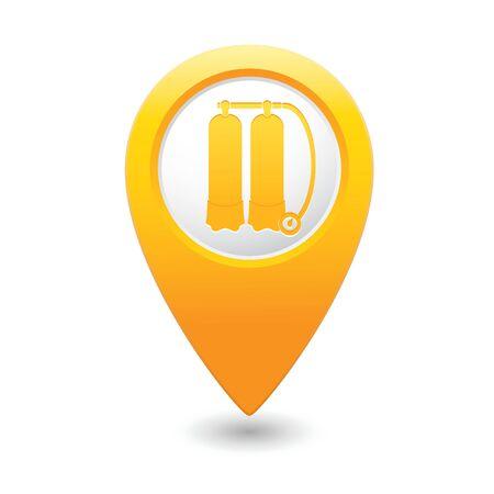 aqualung: Mappa puntatore con l'icona autorespiratore