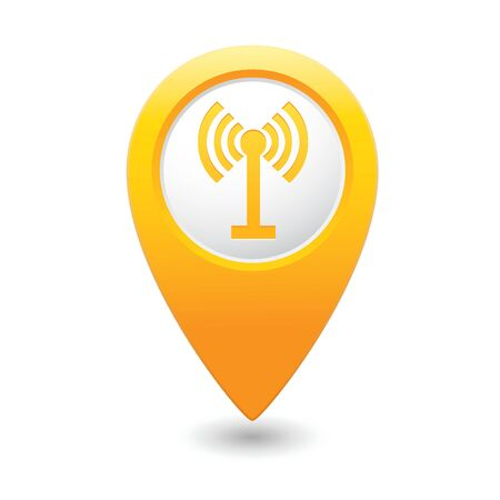 oftware: Map pointer with wireless icon