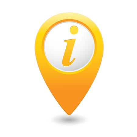 Map pointer with information icon