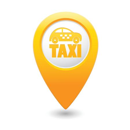 Map pointer with taxi icon  illustration Vector