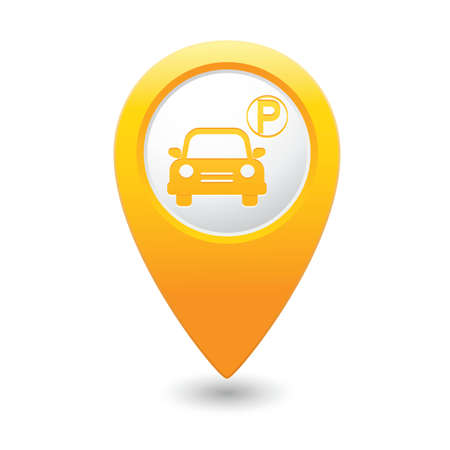 Parking sign on map pointer, vector illustration Vector