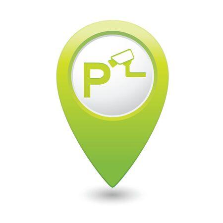 nadzór: Parking pod ikoną nadzoru na mapie wskaźnik