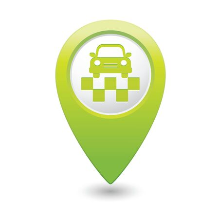 Map pointer with taxi icon  Vector illustration Vector