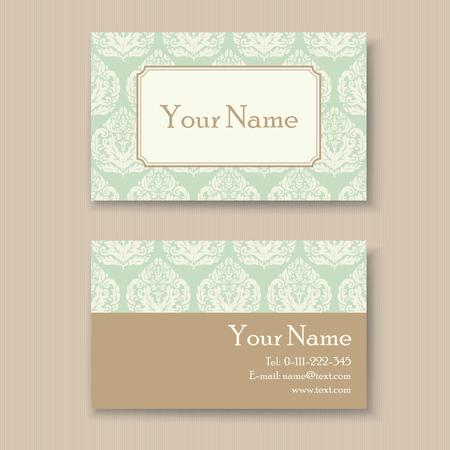 Stylish vintage business card template Vector