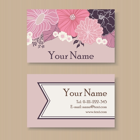 Beautiful floral business card template royalty free cliparts beautiful floral business card template stock vector 31236641 accmission Choice Image