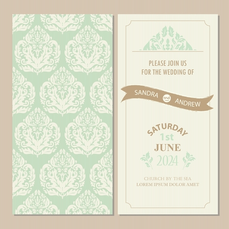 wedding wishes: Wedding vintage invitation card or announcement