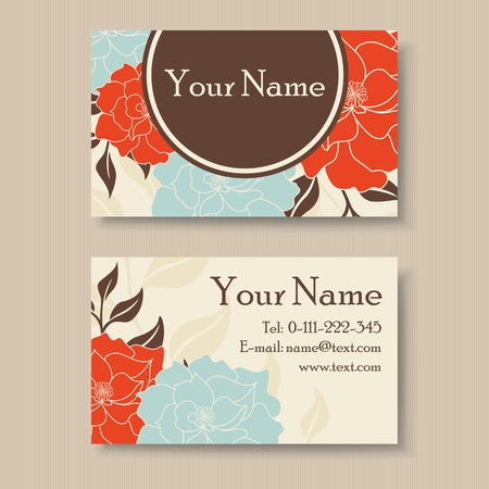 Business card design with place for text Vector