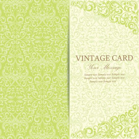 gift background: Vintage Invitation Card.