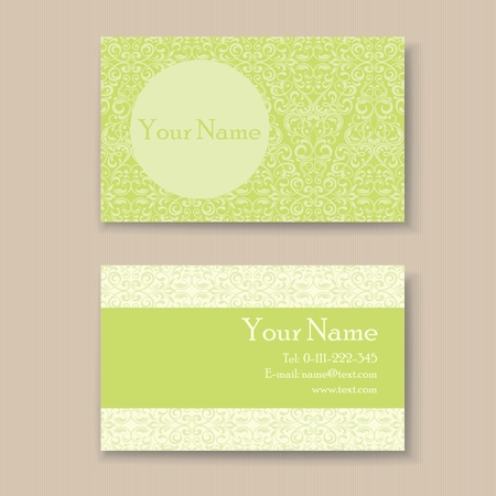 Stylish vintage business card template. Vector