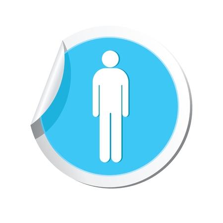 sex positions: Man icon. Vector illustration Illustration