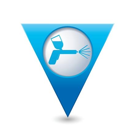 paint spray gun: Spray gun icon. Vector illustration