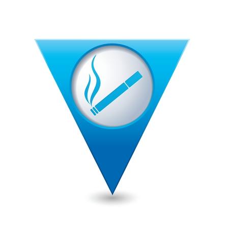 nicotine: Cigarette icon. Smoking sign. Illustration