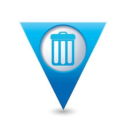 Trash can icon. Vector illustration Vector