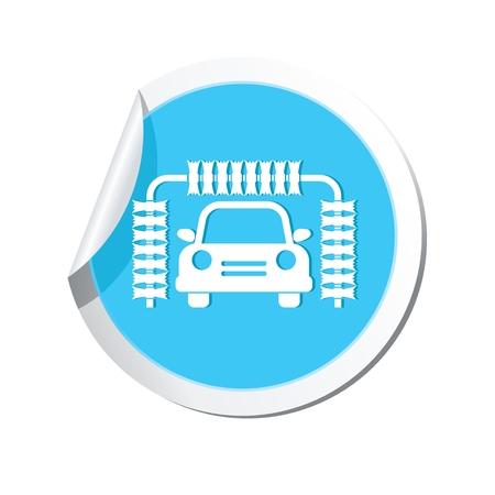 car wash: Car service. Car wash icon. Illustration
