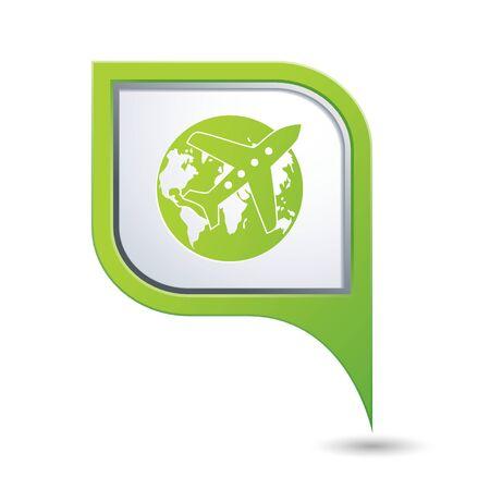 avia: Airplane and earth globe icon