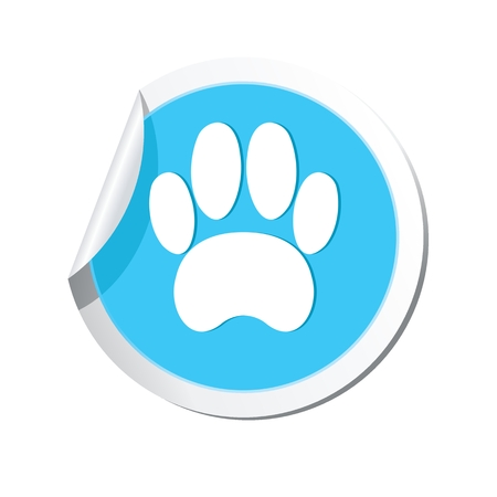 toe tag: Pet paw icon Illustration