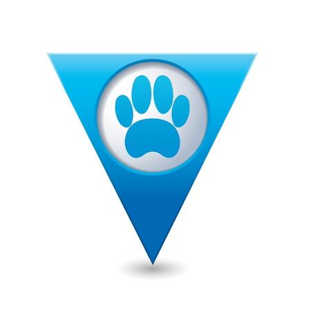 huellas de animales: Icono de la pata del animal doméstico