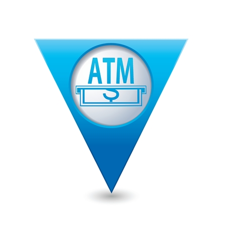 cashpoint: ATM cashpoint icon. Vector illustration