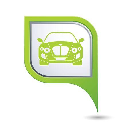 excursions: Car icon. Vector illustration