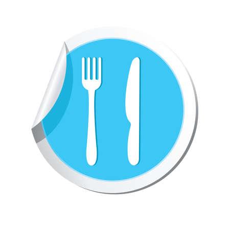 dinnerware: Restaurant icon. Vector illustration Illustration