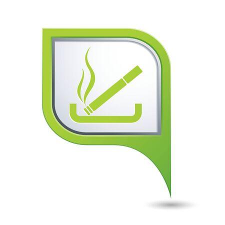 smoking place: Cigarette icon. Smoking sign. Illustration