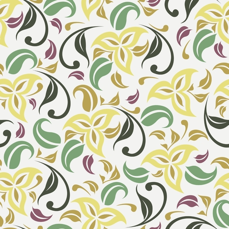 wallpaperrn: Abstract seamless pattern with floral background. Vector illustration